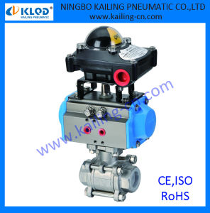 3 pcs ball valve/ controlled by pneumatic actuator pictures & photos