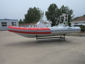 Aqualand 21.5feet 6.5m Rib Motor Boat/Fiberglass Rigid Inflatable Diving Boat (RIB650B) pictures & photos