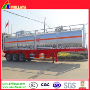 3 Axles 40-55cbm Caustic Soda Tank Semi Trailer with Tanker pictures & photos