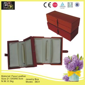 Pink Store Package PU Leather Jewelry Cabinet (3631R1) pictures & photos