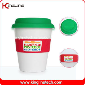 Any Color 350ml Silicone Cup with Sillicone Band and Cover (KL-CP005) pictures & photos