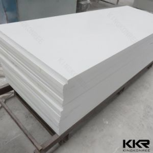 Decoration 6mm Glacier White Modified Acrylic Solid Surface Sheet (M170502) pictures & photos