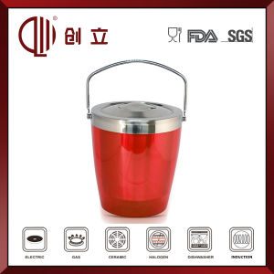 2.8L Double Wall Stainless Steel and Plastic Wine Bucket