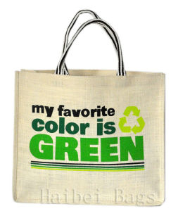 Low Formaldehyde Popular Style Jute Shopping Bag (hbjh-9) pictures & photos