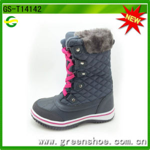 New Arrival Kids Winter Snow Boots with Fur pictures & photos