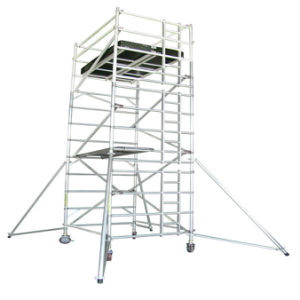 Aluminum Alloy Installation Scaffold with Casters pictures & photos