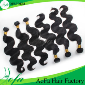 Thick End Unprocessed Human Braid Brazilian Human Hair Weaving pictures & photos
