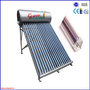 Evacuated Tube Non-Pressurized Solar Hot Water Heater System pictures & photos