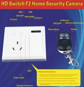 Socket Camera Video Recorder Remote Control for Home Security (QT-F2) pictures & photos