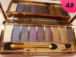 Korea Wei Ni Xiao Xiong 9 Color Eyeshadow Diamond Shining Eye Shadow Palette pictures & photos