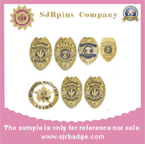 Hq-Police Badge Military Lapel Pin 3D Badge pictures & photos