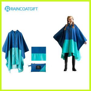 Unisex Fashion Polyester PVC Coating Rain Ponchos Rpy-045 pictures & photos
