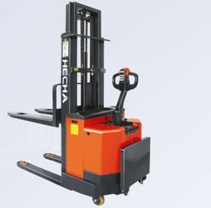 1.2ton Electric Pallet Stacker Stand-on pictures & photos