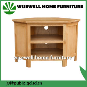 Solid Oak Furniture Corner TV Stand Cabinet (W-CB-509) pictures & photos