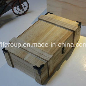 Popular Design Exquisite Two Bottle Round Shape Wooden Wine Box pictures & photos