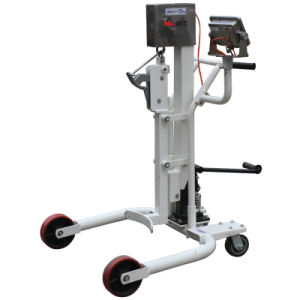Hydraulic Foot Pedel Type Drum Truck with Weighing Scale 350kg Capacity pictures & photos