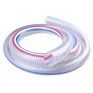 """1/4"""" ~ 10 Inch Clear PVC Steel Wire Reinforced Hose / PVC Spring Hose pictures & photos"""