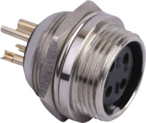 Circular Cable Power Waterproof Connector (M16F-4B)