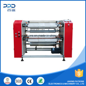 High Speed 4 Shaft Touch Screen PE Wrapping Film Rewinder Machinery pictures & photos