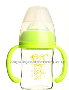 120ml Diamond Glass Baby Bottle BPA Free pictures & photos