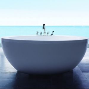 Simple Style Bathroom Acrylic Bathtub (SR568) pictures & photos