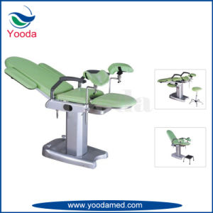 Electric Height Adjustable Medical Gynecology Exam Bed pictures & photos