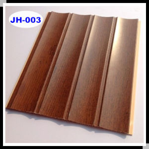 Wooden Design Wave PVC Wall Panel for Ceiling Tiles Good Quality for India (JH-003)
