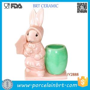 Cute Easter Uncle Bunny Flower Pot Mini Ceramic Desk Planter pictures & photos