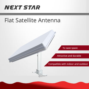 Flat Satellite Antenna Azfox Dish Dual Linear Polarization LNB Integrated pictures & photos