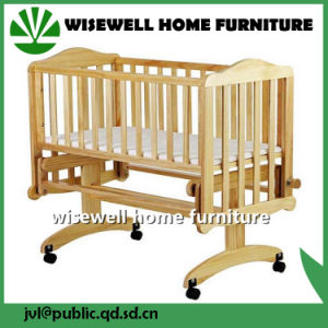 Pine Wood Swing Baby Bed pictures & photos
