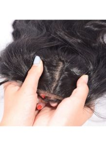 4X4 Body Wave Virgin Peruvian Human Hair Silk Base Closure with Baby Hair pictures & photos