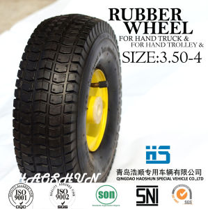 Hand Truck Tyre Trolley Tyre Pneumatic Rubber Wheel 9X3.50-4 pictures & photos