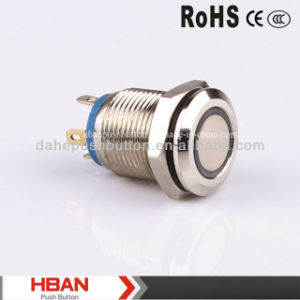 CE RoHS 12mm Ring Illuminated Pushbutton pictures & photos