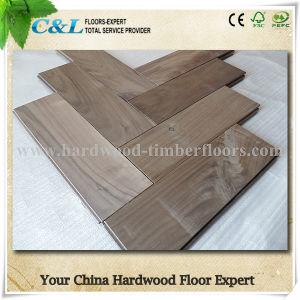 Unfinished Herringbone American Black Walnut Solid Wood Flooring