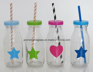 Personalised 250ml Glass Bottle with Straw for Drinking pictures & photos