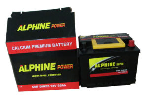 Mf Car Battery/ DIN55 Mf 12V55ah Automotive Battery pictures & photos