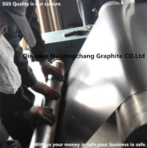 Metal Insert Reinforced Flexible Natural Graphite Sheet China Factory