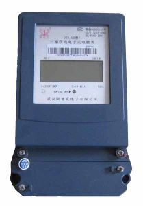 Three Phase Split Auto-Tripping Electrical LCD Energy/Current Meter pictures & photos