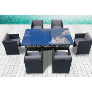 Outdoor Dining Set for 6 Seater with Aluminum / SGS (8219-3 GREY) pictures & photos