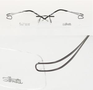 Pure Titanium Spectacle Frame Silhouette Titanium Eyeglasses Optical Frames with Silhouette Logo Wholsale (e1051)