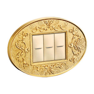 24k Gold Plated Brass Hotel Wall Switch pictures & photos