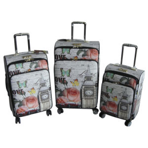 PU Suitcase Travel Bag Luggage Trolley Case Jb-D003 pictures & photos