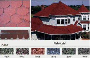 Factory Direct Sale Fish Scale Colorful Asphalt Shingle, Roofing Tile