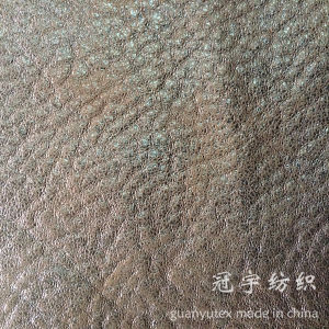 Polyester Suede with Foil Gold Stamping Process pictures & photos
