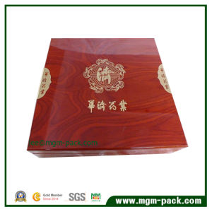 Wholesale Customized Wooden Tea Box with Red Painting pictures & photos