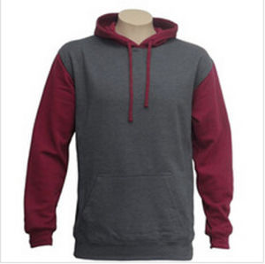 Custom Nice Cotton/Polyester Plain Hoodies Sweatshirt of Fleece Terry (F066) pictures & photos