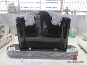 Special Design Shanxi Black Flower Carving Tombstone Monumnet pictures & photos