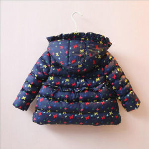 Apparel Printed Flower Girl Coat for Children Winter Clothes pictures & photos