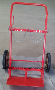 High Quality Oxygen Bottle Steel Trolley with Double Holder pictures & photos