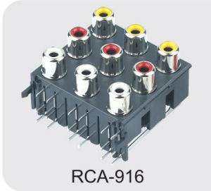 RCA Jack/AV Jack with Shield (RCA-916) pictures & photos